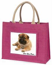 Bear Coat Shar-Pei 'Love You Dad' Large Pink Shopping Bag Christmas , DAD-110BLP