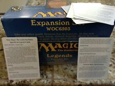🎆 Legends booster pack insert/rules card Magic the Gathering  🌠