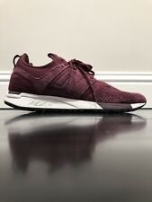 NEW BALANCE 247 MRL247LR MAROON RED WHITE SUEDE Mens sz 9