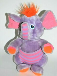 Vtg Disney Hasbro Softies Wuzzies Eleroo Elephant Purple Plushie Stuffed Animal