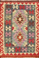 Geometric Oriental Kilim Area Rug Hand-Woven Southwestern Traditional 2x3 Carpet