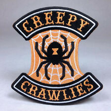 Hallows Eve Halloween Biker Patch: Creepy Crawlies - Pumpkin Witch Ghost Haunt