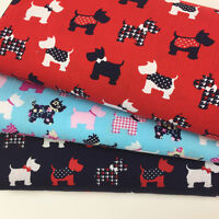 Scotty dog  100 % cotton fabric per 1/2 metre/fat quarter 112cm wide for sewing