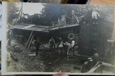 c1910 Pennsylvania RR train wreck real photo postcard - no location ID