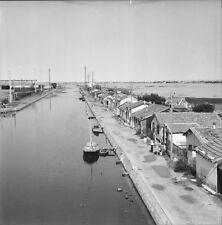 LA PEYRADE c. 1950 - Bateaux Cabanes Port Hérault - Négatif 6 x 6 - OCC 60