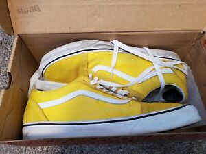 Vans size US 12 Old Skool Vibrant Yellow / True White Classic Sneakers