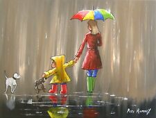 Pete Rumney Art Painting Raindrop Adventure Colourful Original Handpainted