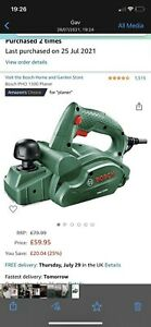 Bosch PHO 1500 550W 1.5mm Corded Planer - 06032A4070
