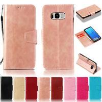 Luxury Wallet Leather Flip Cover Case For Samsung S6 S7 S8 S9 S10 Plus J6 Plus
