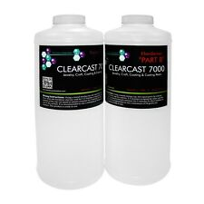 Clear epoxy resin casting coating sealing crystal clear - Clearcast 7000 - 70oz