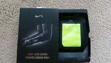 NIB-Nike+ Plus iPhone 4 4s/iPod Touch long arm sleeves pair Black Dri-FIT  S/M
