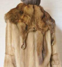 Mink Full Pelts Fur Coat with Sable Collar  sz.M-L 10-12US