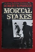 *RARE* MORTAL STAKES by Robert Parker - Spenser Mystery 2nd Impress. HC/DJ 1975