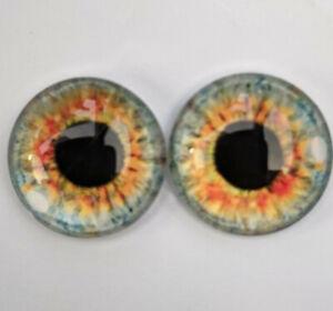 Hazel glass cabachon eyes great for taxidermy, needle felting, toy making