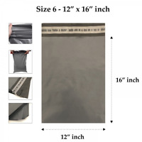 "1000 x Grey 12'' x 16"" Plastic Strong Mailing Bags Self Seal Postage Poly Post"