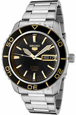 NEW SEIKO SNZH57K1,Men's Sport,Automatic,Stainless steel,Rotating Bezel,100m WR