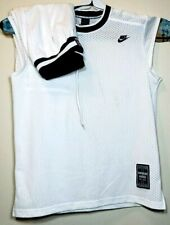 635906fd5c97 Nike Supreme Court Mens White Blue Mesh Basketball Jersey   Shorts Lot Of 2  See