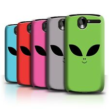 STUFF4 Back Case/Cover/Skin for HTC Desire G7/Extraterrestrial Alien Face