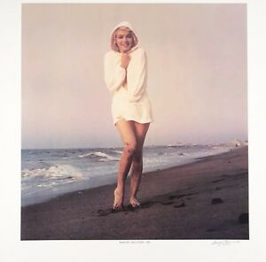 """Marilyn Monroe lithograph, signed and numbered, George Barris, """"Chilly Wind"""""""