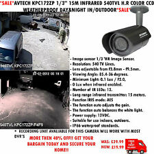 "AVTECH kpc172zp 1/3 "" 15m 540TVL h.r Colore CCD WEATHERPROOF DAY&NIGHT In / Outdoor"