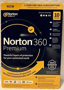 Norton Internet Security with Antivirus Premium - 10 Devices Key Card PC/Mac/AN✔