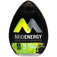 12 Bottles Of  MiO GREEN THUNDER WATER FLAVOR ENHANCER PLUS VARIETY SAMPLER PACK