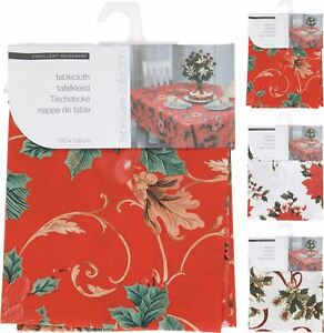 180x130cm Rectangular Traditional Fabric Christmas Tablecloth Table Cover