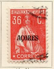 Azores 1917-21 Early Issue Fine Used 36c. Optd 080214