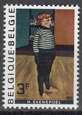 """Belgique/Belgien Nº 1738 ** Henri Evenepoel """"le petit gars avec rayée."""