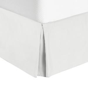 "Premium Luxury Pleated Tailored Bed Skirt - 14"" Drop Dust Ruffle, Full XL -White"
