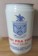Rare 1981 PGA Tour Kingsmill Golf Club Virginia Budweiser Empty Beer Can