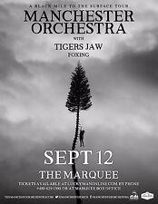 "Manchester Orchestra ""A Black Mile To Surface Tour"" 2017 Phoenix Concert Poster"