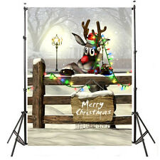 3x5FT 0.9 x 1.5m Xmas Christmas Vinyl Photography Studio Props Backdrop