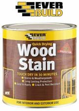 Everbuild Wood Stain Indoor & Outdoor Quick Drying All Colours 250ml 750ml 2.5L