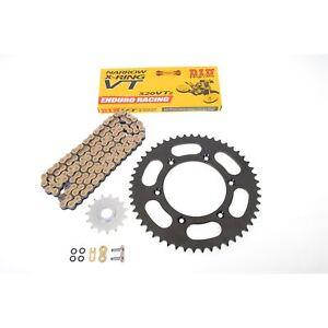 DID VT2 Kit de Cadena Acero Negro Husaberg Fe 250 4t, Fe 350 , Fe 390 450