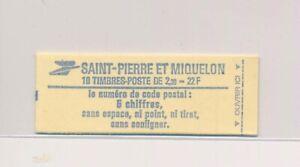 LO37835 St Pierre et Miquelon numerals good booklet MNH