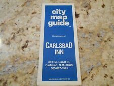 City Street Map of Carlsbad, NM   compliments of Carlsbad Inn    free shipping