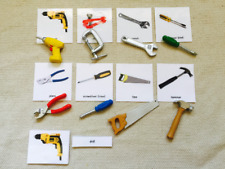 Montessori Common Tool 5 Parts Cards with Extra Large Miniatures