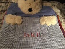 Pottery Barn Kids Shaggy Dog Sleeping Bag, Preowned Blue, JAKE