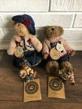 Boyds Bears Bailey & Matthew Plush with Ornaments & Tags Limited Fall 1996