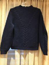 La Maille Sezane Wool Blend Knit Sweater Sz S Pull Zack Marine Long Sleeves New