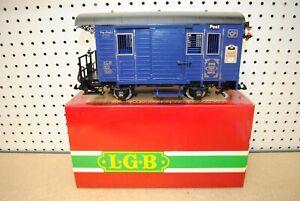 LGB 1985 Jahreswagen Postal Baggage Anniversary Car w/Lights *G-Scale*