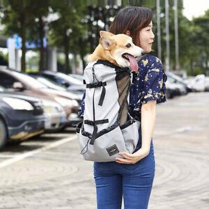 Dog Carrier Large Backpack Puppy K9 Travel Bike Hiking Carrier Bag Outdoor Gray