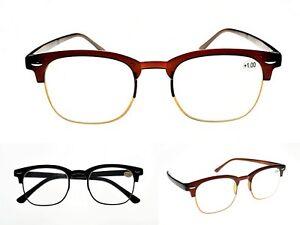 Bendable Clubmaster TR90 Fashion Unisex Flexible Reading Glasses 2 Colours TN32