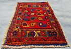 Authentic Hand Knotted Vintage Abshour Wool Area Rug 2 x 1 Ft (11994 KBN)