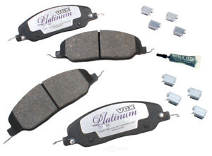 Disc Brake Pad Set-Ceramic Pad Kit with Hardware Front fits 05-10 Ford Mustang