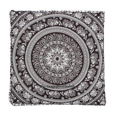 Ombre Indian Square Floor Pillow Meditation Cushion Cover Ottoman Pouf