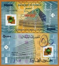 Lebanon, 50000 (50,000) Livres 2014 P-NEW Polymer UNC > Replacement