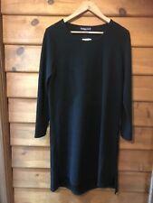 CORDELIA ST TEXTURED TUNIC/DRESS- CHARCOAL BLACK - SIZE 16