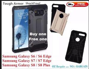 Samsung Galaxy Note 8 N8 S8 S8+ S7 S6 Slim TOUGH ARMOR TPU PC Phone Cover Case